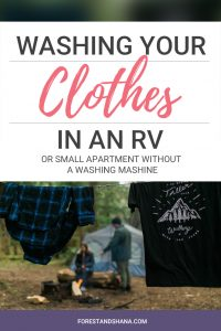 Washing Clothes in an RV